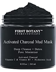 Activated Charcoal Mud Mask 8.8 fl oz. - For Deep Cleansing...