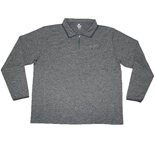 1/4 Zip Thermal Hooded Pullover - BIG & TALL North Texas Mean Green NCAA Mens Athletic 1/4 Zip Thermal Sweatshirt XXL Grey
