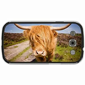 New Style Customized Back Cover Case For Samsung Galaxy S3 Hardshell Case, Black Back Cover Design Highland Cattle Personalized Unique Case For Samsung S3 wangjiang maoyi
