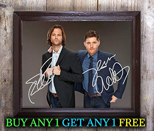 (Jensen Ackles Jared Padalecki Supernatural Autographed 8x10 Photo Reprint #91 Special Unique Gifts Ideas Him Her Best Friends Birthday Christmas Xmas Valentines Anniversary Fathers Mothers Day)