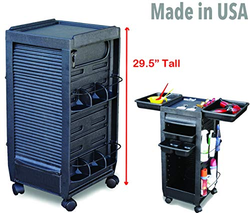 C185-HF Salon Roll-About Trolley Cart Lockable Mini 29.5″ H Made in USA by Dina Meri