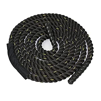 Battle Ropes 1.5//2in Diameter Poly Dacron 30//40//50ft Length Undulation Ropes gym