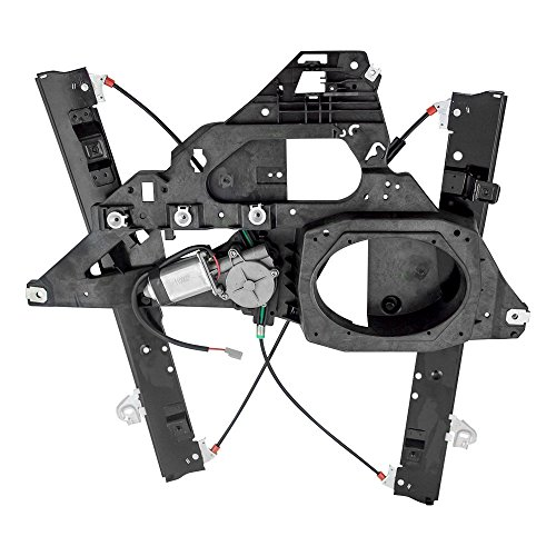 (Power Window Regulator w/Motor Assembly & 2 Pin Rectangular Connector Driver Front Replacement for 03-06 Ford Expedition & Lincoln Navigator 6L1Z7823395A)