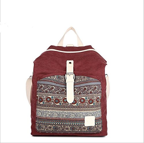 Alger Ms Bolso Mochila Mochila De Lona, Color Rojo. Red