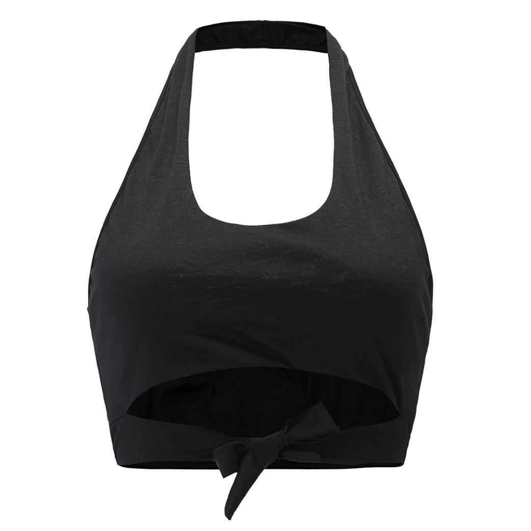 Amazon.com: Inverlee Women Ladies Summer Round Neck Bow Sleeveless Vest Top Beach Tank T-Shirt: Clothing