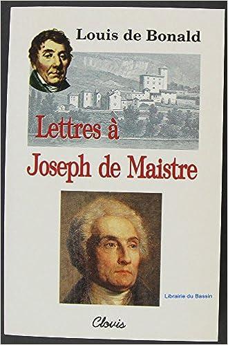 En ligne téléchargement gratuit Lettres à Joseph de Maistre pdf