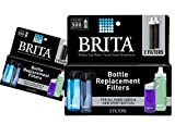 (2 Packs) Brita Replacement Bottle Filters (Model BB06), 2 Count Each, 4 Total Filters Package May Vary,Black