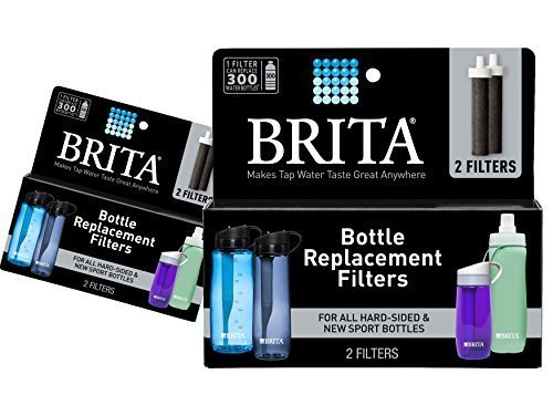 (2 Packs) Brita Replacement Bottle Filters (Model BB06), 2 Count Each, 4 Total Filters Package May Vary,Black by Britaa