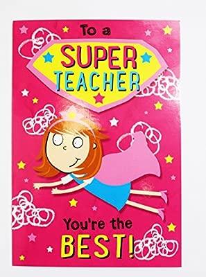 Superhéroe mejor profesor tarjeta de felicitación gracias ...