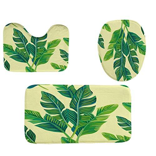 YAYUMI 3pcs Non-Slip Fish Scale Floor mat Bathroom mat Toilet seat Doormats Decor ()
