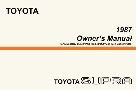 amazon com bishko automotive literature 1987 toyota supra owners rh amazon com 1985 Toyota Supra 1989 Toyota Supra