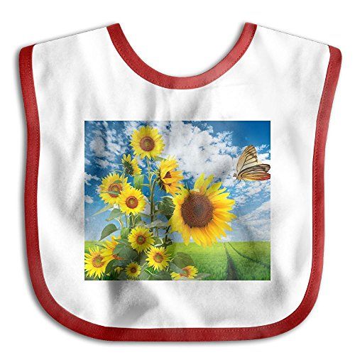 Sunflower And Butterfly Funny Baby Bibs Burp Infant Cloths Drool Toddler Teething Soft Absorbent by BB-care