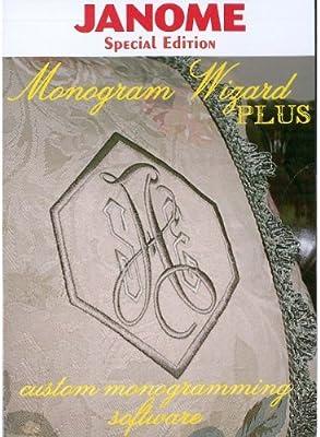 Amazon com: Monogram Wizard Plus Embroidery Lettering Software