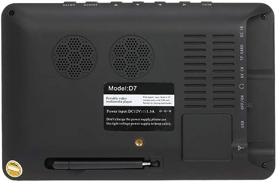 Gamogo Mini 7 Pulgadas DVB-T-T2 Televisión Analógica Digital ...