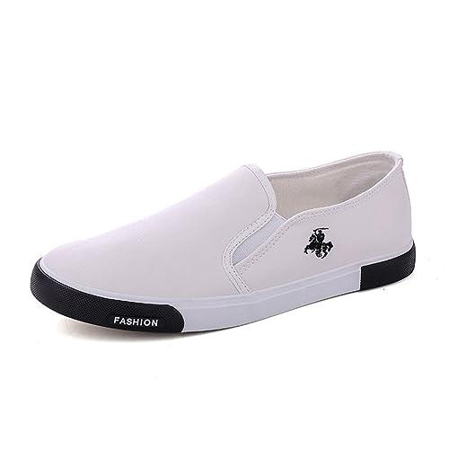 Hombres Mocasines nuevos Zapatos de Moda al Aire Libre Caminar Zapatos Casuales Zapatos de Cuero para Hombres Pisos: Amazon.es: Zapatos y complementos