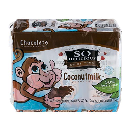 So Delicious Coconut Milk - Chocolate Organic Dairy Free - 6pk - Case Of 3 - 6/8 Fl Oz by SO DELICIOUS (Image #1)