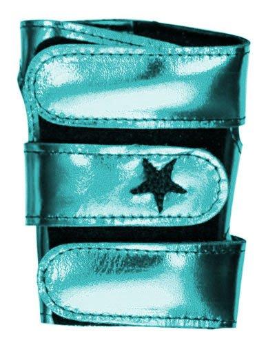 Metallic Power Up Gymnastics Wrist Supports - Turquoise/Aqua, XS