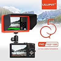 LILLIPUT Field Monitor Q5 5.5 FHD 1920x1080 SDI and HDMI Cross Conversion Camera-top Monitor IPS Metal Housing Screen for Camera Camcorder DSLR (5.5 inch)