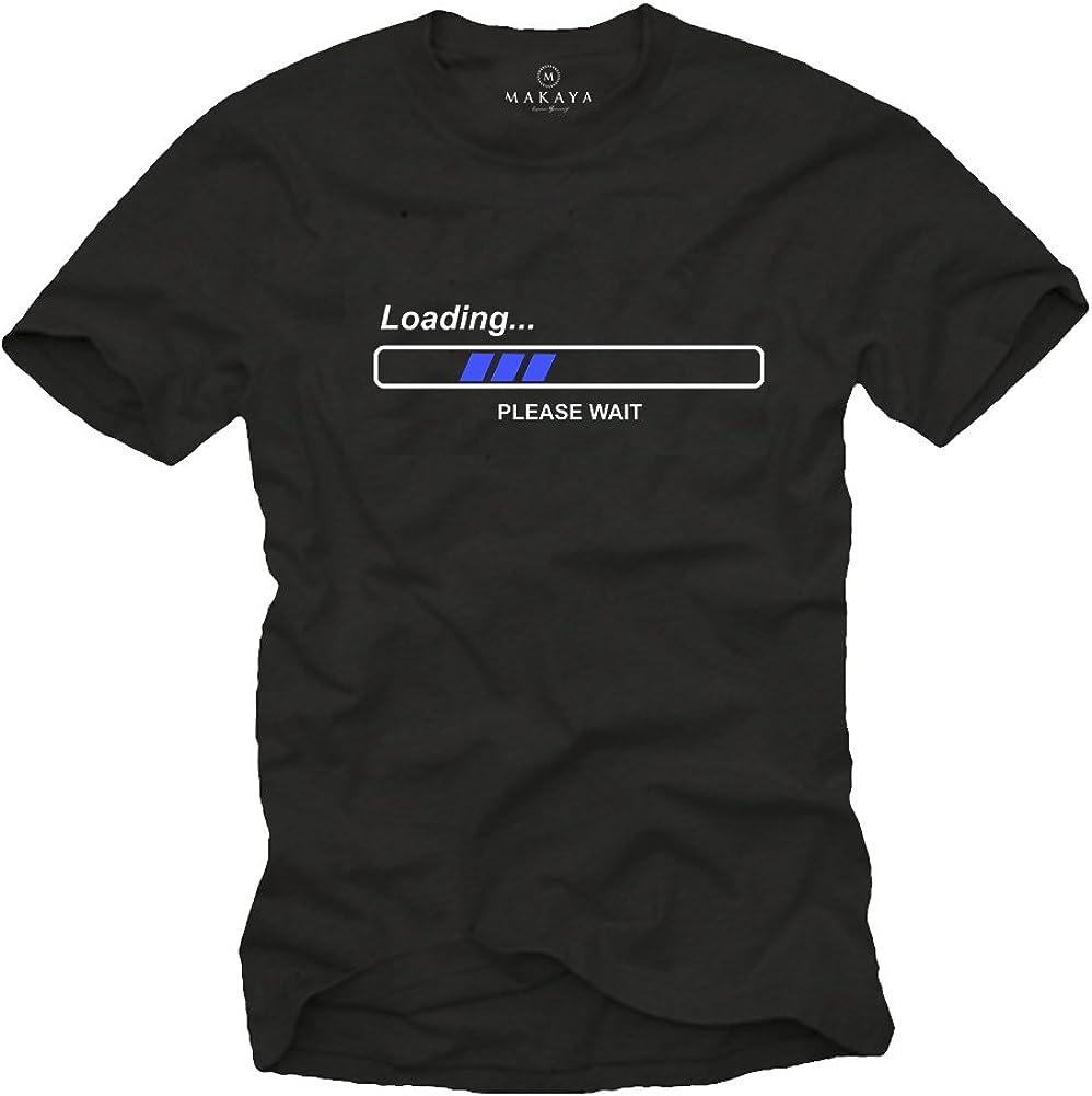 MAKAYA Camisetas con Frases Divertidas - LOEADING Pleas Wait: Amazon.es: Ropa y accesorios