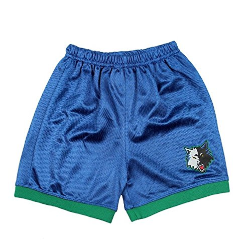 Minnesota Timberwolves NBA Youth Replica Mesh Team Shorts, Slate Blue & Green (Kids 7, Slate Blue & ()