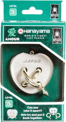 Square Brain Teaser (AMOUR Hanayama Cast Metal Brain Teaser Puzzle (Level 5))