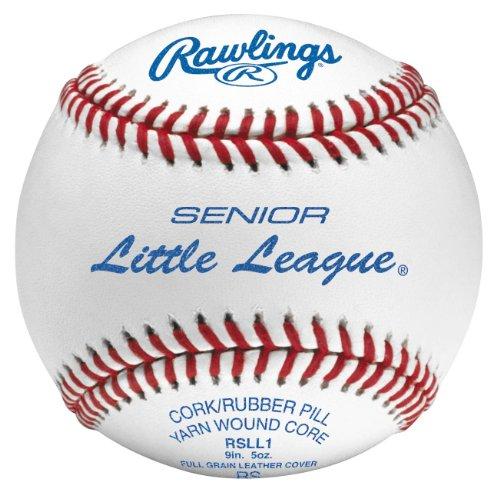 Rawlings Raised Seam Baseballs, Senior Little League Competition Grade Baseballs, Box of 12 , RSLL1