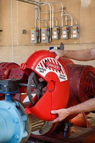 Brady Collapsible Gate Valve Lockout Device - Compatible with Gate Valves 13-18'' in Diameter - Red - 148646 by Brady (Image #3)