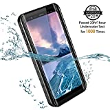 Galaxy S9+ Plus Waterproof Case. Temdan 2018 Support Wireless Charging Case Rugged Built in Screen Protector with Kickstand Shockproof Underwater Case for Samsung S9+ Plus(6.2inch) (Black)