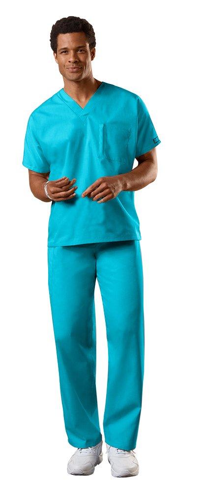 Cherokee Uniforms Authentic Workwear Unisex Scrub Set (Turquoise - Large)
