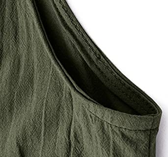 senza T Shirt 36 38 40 42 44 46 48 50 Salopette in lino con tasche MAGIMODAC da donna estiva