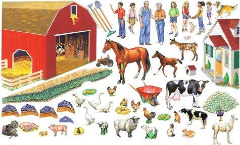 (Grandpa's Fun on the Farm Set 50 Precut Felt Figures for Flannel Board + Literature Small Size)