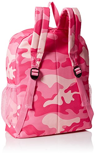 John Deere Girls' Trademark Camo Backpack, Pink Camo