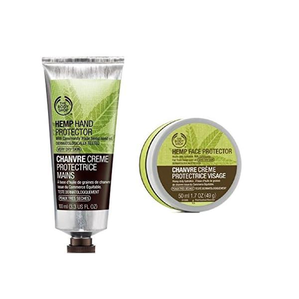 Body Shop Hemp Hand Protector (100ml) and Hemp Face Protector (50ml)