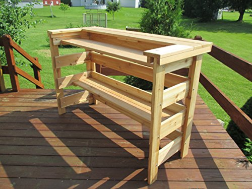 Patio Bar Western Red Cedar by Infinite Cedar