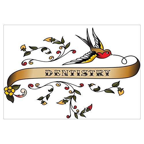 (CafePress Dentistry Scroll Wall Art Framed Print)