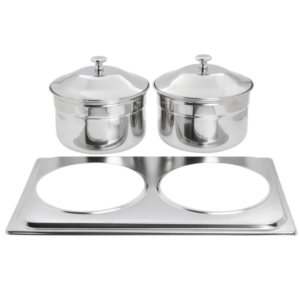 HUBERT Chafer Adapter Plate and Soup Buckets Stainless Steel - 21
