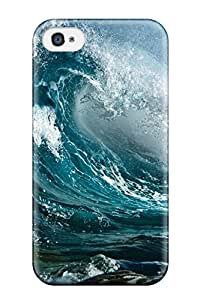 Top Quality Case Cover For Iphone 4/4s Case With Nice Waves Earth Nature Waves Appearance