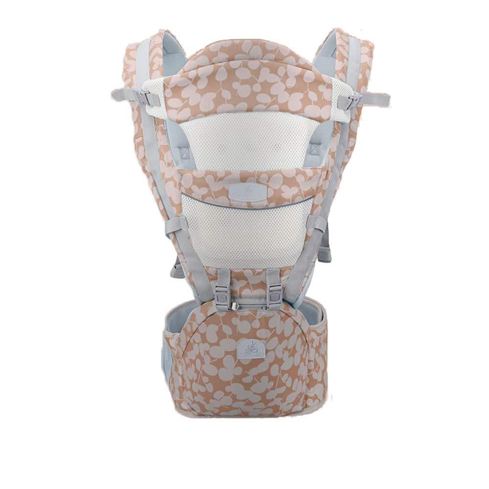 Atmungsaktive Multifunktions-Babytrage bis zu 3 Jahren (10-50 lbs), ergonomische Tragepositionen, Champagner Gold