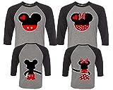 Mickey and Minnie Couple Shirts, Matching Couple Shirts, Disney Shirts, King And Queen Shirts Black - Grey Man Large - Woman Medium
