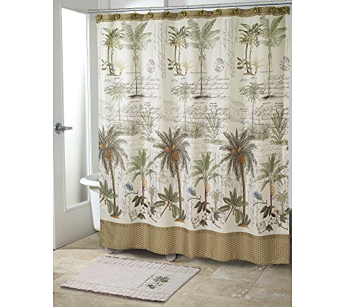 Avanti Colony Palm Shower Curtain or Bath Rug Bath Rug ()