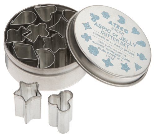 Ateco 12 Piece Aspic/Jelly Cutter Set, .5 Inch by Ateco
