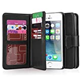 iPhone 5 Case, iPhone 5S Case, BENTOBEN Wallet PU Leather iPhone 5 Cases Protective Magnetic Folio Flip Cover...