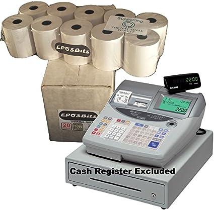 eposbits® marca rollos para Casio TE-2200 TE2200 te 2200 Caja ...