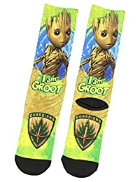 Marvel Guardians of the Galaxy Groot Sublimated Crew Socks