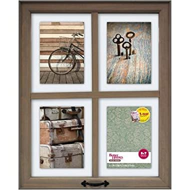 Better Homes and Gardens 4-Opening Rustic Windowpane Collage Frame