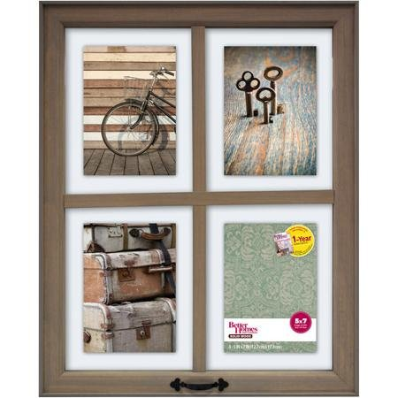 Better Homes and Gardens 4-Opening Rustic Windowpane Collage Frame from Better Homes & Gardens