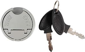 SolUptanisu Fuel Tank Cap, Locking Fuel Cap Gas Fuel Tank Cap Lock & Keys for Scooter GY6 4‑Stroke 139QMB