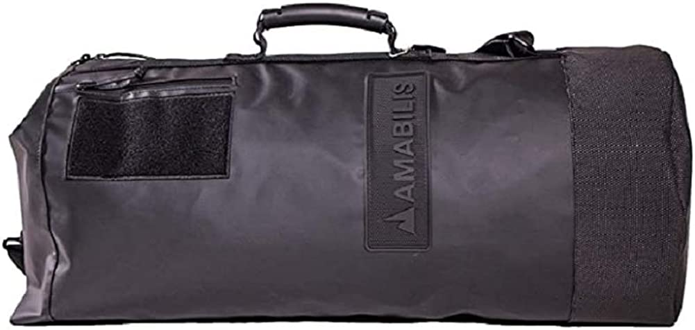 Amabilis Water Resistant, Heavy Duty Dave Duffel Bag, 25 x 12 Inches – 46 liters 2827 cu. in, Stealth Black