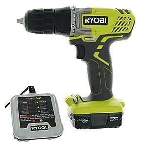 "Ryobi HJP004L 3/8"" 12 Volt Drill / Driver Kit (3 Piece Bundle Including: 1 x HJP003 Drill / Driver, 1 x CB121L 12 Volt Battery, 1 x 140157001 12 V Battery Charger)"