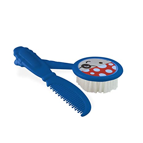 Baby Comb and Soft Brush Set Blue